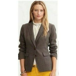 Banana Republic Brown Tweed Blazer Elbow Patches